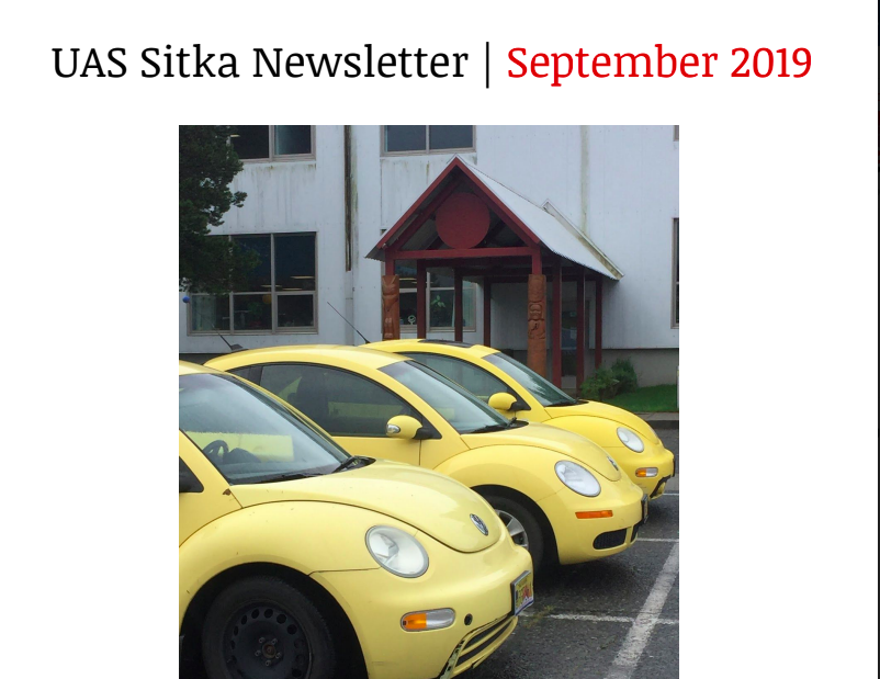 UAS Sitka Newsletter - September 2019